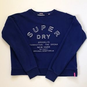 Super dry crew neck shirt size M Women's